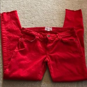 Current Elliott Red Skinny Jeans